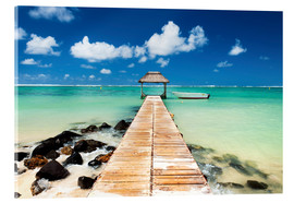 Acrylic print  Footbridge in Mauritius - Jordan Banks