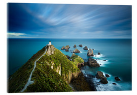 Acrylic print  Nugget Point Lighthouse, Nugget Point, Otago, South Island, New Zealand, Pacific - John Alexander