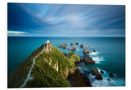 Foam board print  Nugget Point Lighthouse, Nugget Point, Otago, South Island, New Zealand, Pacific - John Alexander