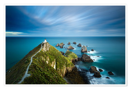Premium poster  Nugget Point Lighthouse, Nugget Point, Otago, South Island, New Zealand, Pacific - John Alexander