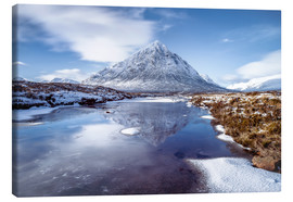 Canvas print  Buachaille Etive Mor and River Coupall, Glen Coe (Glencoe), Highland region, Scotland, United Kingdo - Karen Deakin