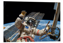 Foam board print  ISS spacewalk - NASA