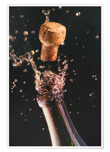 Premium poster Champagne bottle and cork