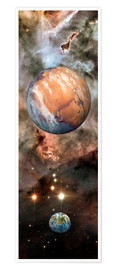 Poster Alien planets and Carina Nebula