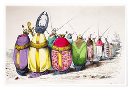 Premium poster Church beetle, cartoon