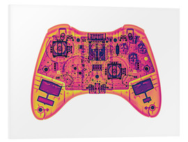 Foam board print  Computer game controller, X-ray - Gustoimages