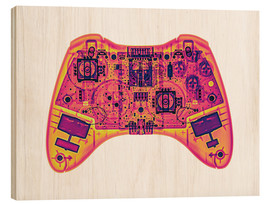 Wood print  Computer game controller, X-ray - Gustoimages