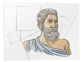 Foam board print  Pythagoras, Ancient Greek mathematician - Harald Ritsch