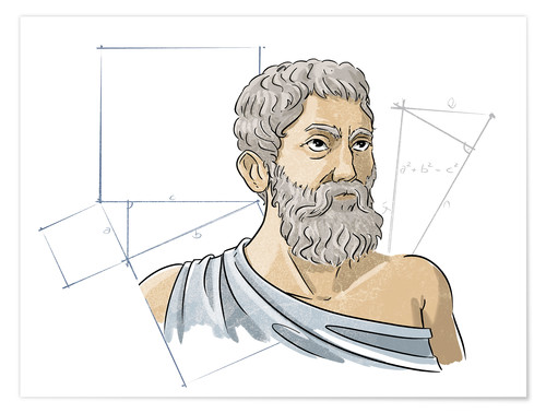 Premium poster Pythagoras, Ancient Greek mathematician