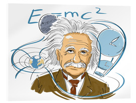 Acrylic print  Albert Einstein, Swiss-German physicist - Harald Ritsch