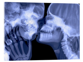 Acrylic print  Lovers kissing, X-ray - Gustoimages