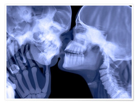 Premium poster  Lovers kissing, X-ray - Gustoimages