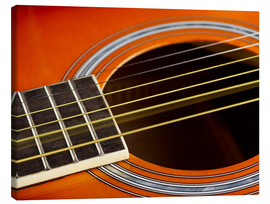 Canvas  Guitar strings at rest and vibrating