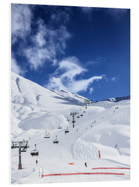 Foam board print  Ski lift and slopes - Gustoimages