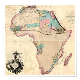 Poster  Map of Africa, 1802