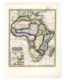 Poster Map of Africa, 1817