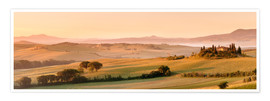 Premium poster  Country house with a fantastic view at sunrise - Markus Lange