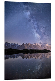Acrylic print  Milky way at starry night with the Mont Blanc - Roberto Moiola