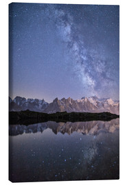 Canvas print  Milky way at starry night with the Mont Blanc - Roberto Moiola