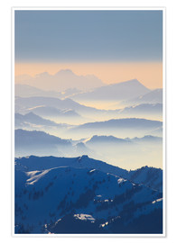 Premium poster View from Saentis, Appenzell