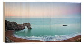Wood print  Durdle Door, Jurassic Coast, UNESCO World Heritage Site, Dorset, England, United Kingdom, Europe - John Alexander