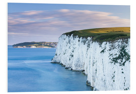 Foam board print  White limestone rocks near the Old Harry Rocks - John Alexander