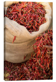 Canvas print  Dried red chilies, Sri Lanka, Asia - John Alexander