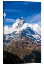 Canvas print  Matterhorn surrounded by clouds - Roberto Moiola