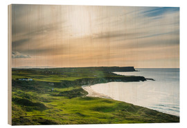Wood print  View over Whitepark Bay, Ireland - Michael Runkel