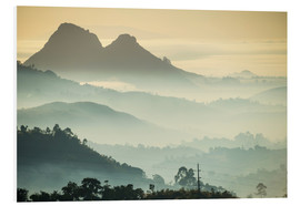 Foam board print  Sunrise and fog over the mountains - Michael Runkel