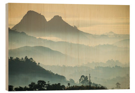 Wood  Sunrise and fog over the mountains - Michael Runkel