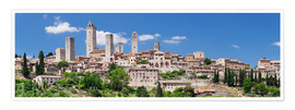 Premium poster San Gimignano in Tuscany