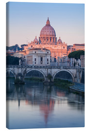 Canvas print  View of the St. Angelo bridge over the river Tiber - Jane Sweeney