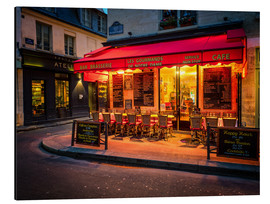 Alu-Dibond  Parisian cafe, Paris, France, Europe - Jim Nix