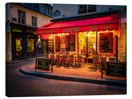 Canvas print  Parisian cafe, Paris, France, Europe - Jim Nix
