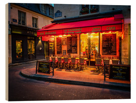 Wood  Parisian cafe, Paris, France, Europe - Jim Nix