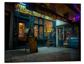 Alu-Dibond  Shakespeare and Company bookstore, Paris, France, Europe - Jim Nix
