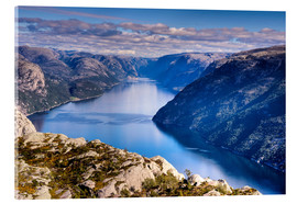 Acrylic print  Pulpit Rock, view from Lysefjord, Norway - Jim Nix