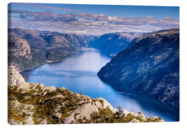 Canvas print  Pulpit Rock, view from Lysefjord, Norway - Jim Nix
