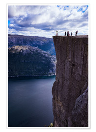 Poster Pulpit Rock, Lysefjord view, Stavanger, Norway, Scandinavia, Europe