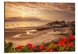 Aluminium print  Tenby, Pembrokeshire, Wales, United Kingdom, Europe - Billy Stock