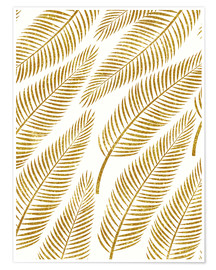 Premium poster Golden palm