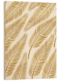 Wood print  Golden palm - Uma 83 Oranges