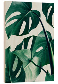 Wood print  Monstera - Uma 83 Oranges
