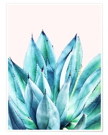 Premium poster  Agave watercolor - Uma 83 Oranges