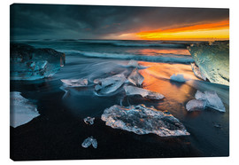 Canvas print  Iceland Diamond Beach I - Arnold Schaffer