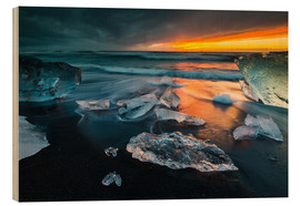 Wood print  Iceland Diamond Beach I - Arnold Schaffer