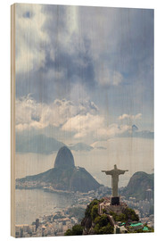 Wood print  The Christ and the Sugar Loaf - Alex Robinson