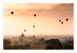 Jordan Banks - Hot air balloons over the temples of Bagan