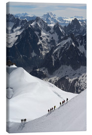 Canvas print  Climber and climber in snowy mountains - Peter Richardson